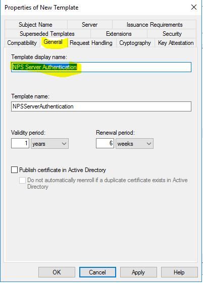 CA NPS Certificate